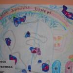 """Grupa Jeżyki- Nikola R. zdobyła III miejsce w konkursie plastycznym """"Ziemia Naszym Domem"""""""
