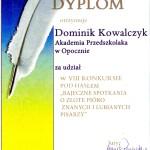 "Dominik K. z grupy ""Żabki"""