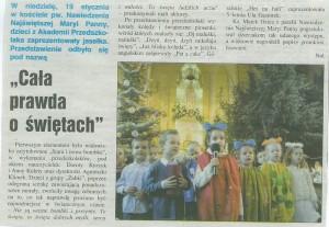 """""""Cała prawda o świętach""""- Jasełka w Kościele NNMP w Opocznie 2015"""