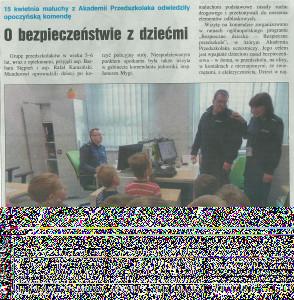 Przedszkolaki z wizytą na Policji